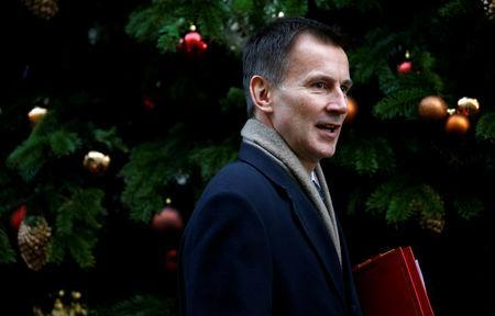 FILE PHOTO: Britain's Secretary of State for Health, Jeremy Hunt arrives in Downing Street, London, Britain, December 4, 2018. REUTERS/Henry Nicholls/File Photo