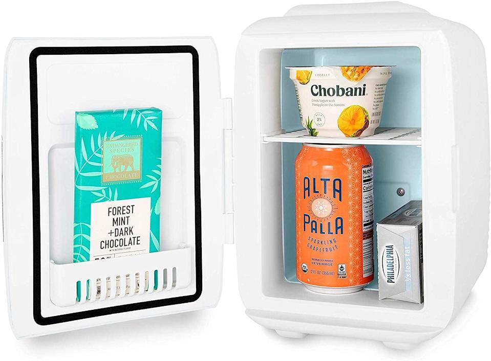 <p>Of course the fridge downstairs is packed with goodies for the whole family to enjoy, but what teen wouldn't want to have their own <span>Mini Fridge For Snacks or Skincare</span> ($50) for drinks or snacks - or skin care! - to share with friends who come over right in their bedroom? </p>
