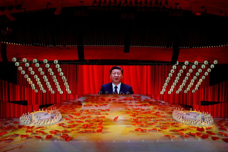 FILE PHOTO: Show commemorating the 100th anniversary of the founding of the Communist Party of China, in Beijing