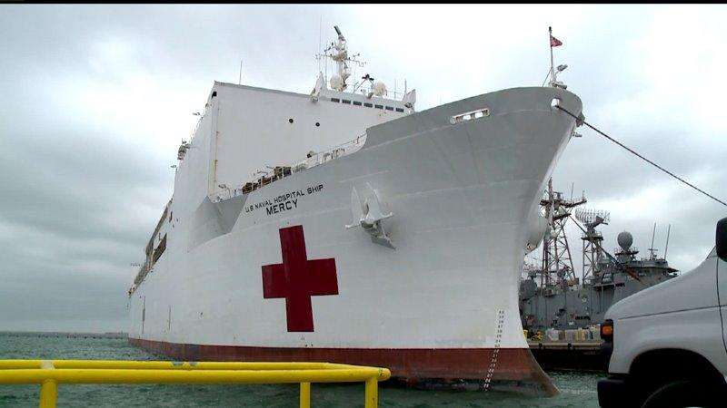The San Diego based hospital ship, USNS Mercy, is prepared to head to the Philippines to help those in need of medical relief.