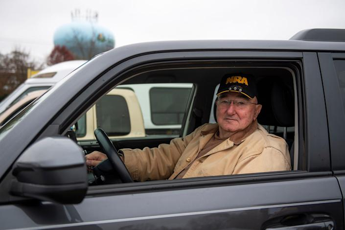 """Clark Katz, 78, of Bridgeton, N.J. Katz voted for Trump and Van Drew and supports Van Drew's vote. ÒI think he did the right thing because thatÕs his right. I think he did the right thing, I donÕt think this thing about impeachment is right,"""" he said."""