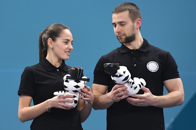 <p>Anastasia Bryzgalova and Aleksandr Krushelnitckii of Olympic Athletes from Russia have made headlines for their play and their looks. </p>