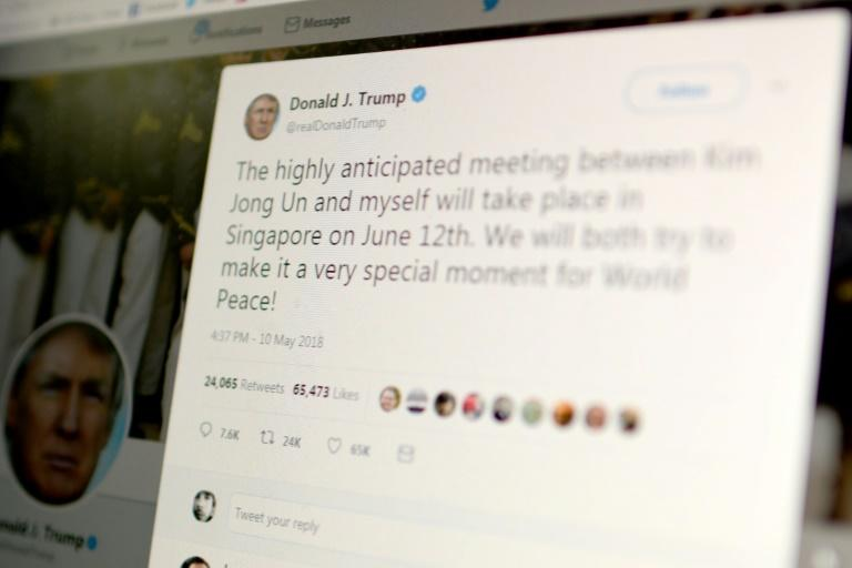 US President Donald Trump is not legally entitled to block his critics on Twitter, an appeals court ruled, because he has been using the account in his official capacity (AFP Photo/Eric BARADAT)