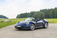 This photo provided by Porsche shows the Porsche 911 Cabriolet, a four-seat convertible that provides a sublime driving experience. (Courtesy of Porsche Cars North America via AP)