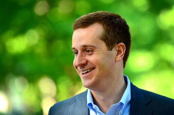 PHOTO: Ninth Congressional district Democratic candidate Dan McCready smiles outside Eastover elementary school in Charlotte, N.C., May 8, 2018. (Jeff Siner/The Charlotte Observer via AP)
