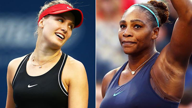 Eugenie Bouchard sparked a backlash from Serena Williams fans on Twitter, after suggesting she would have won the Canadian Open.