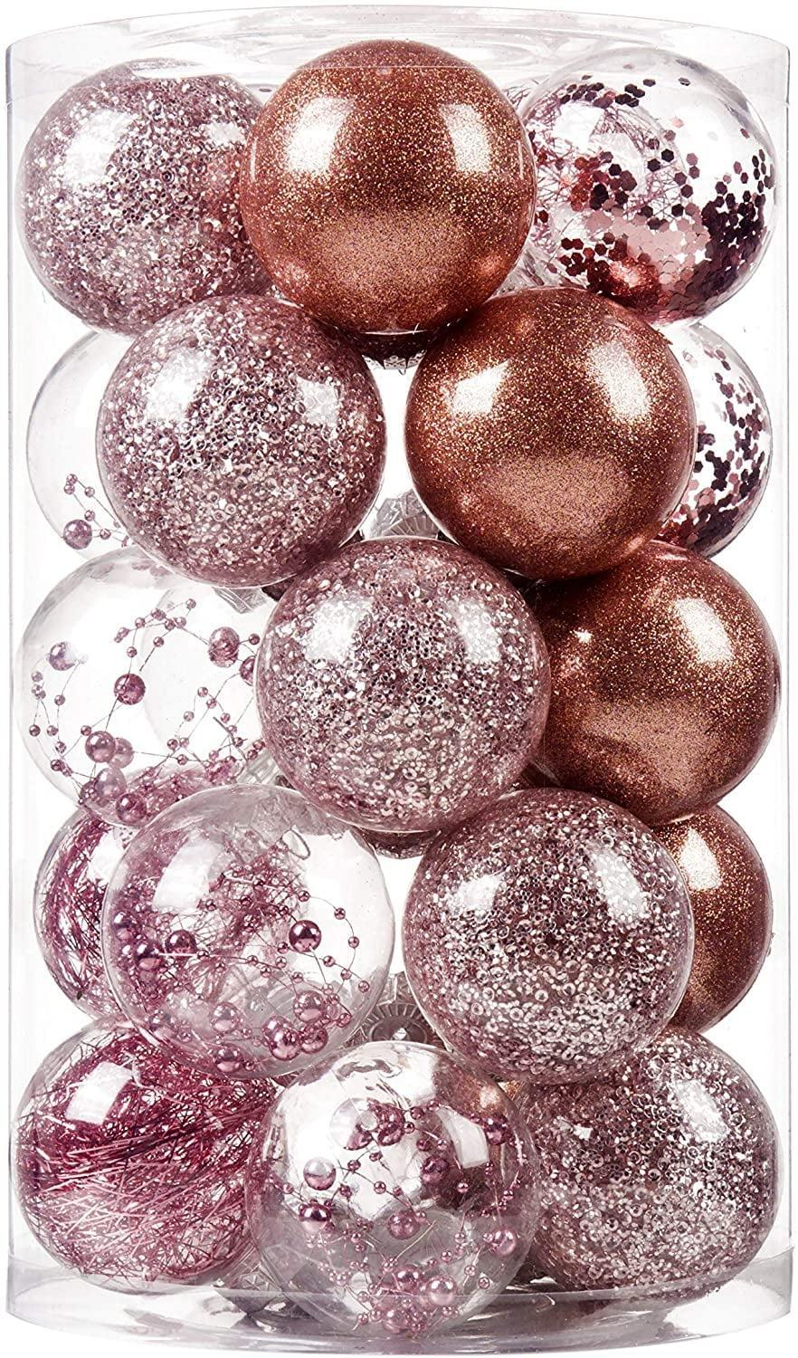 """<p>These <span>SY CRAFT 70mm/2.6"""" Christmas Ball Ornaments</span> ($21) are beautiful, modern must-haves. </p>"""