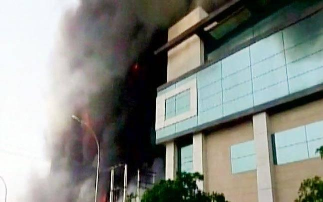 Massive fire breaks out at electronics factory in Noida