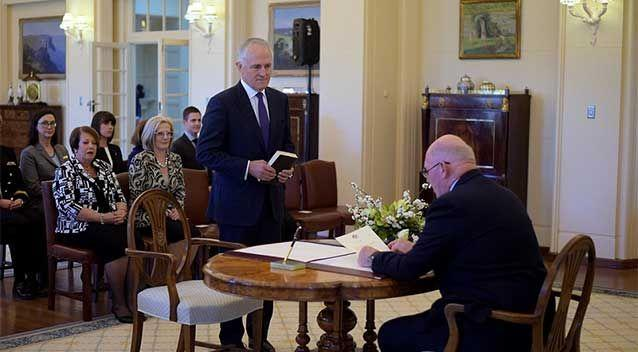 Malcolm Turnbull was sworn in as Prime Minister of Australia on Tuesday. Photo: AAP