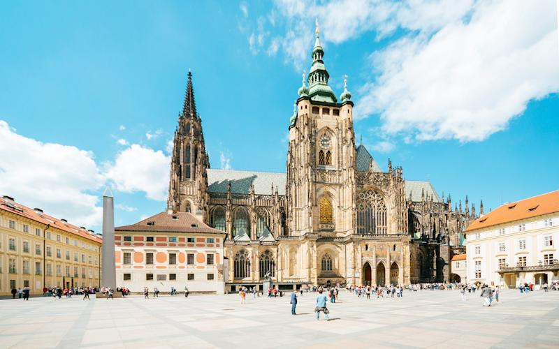 The Saint Vitus cathedral sits within the grounds of Prague Castle - Andrey Danilovich
