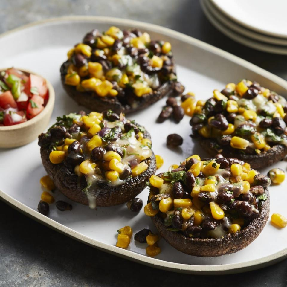 <p>Making your own tostadas is easy. Use store-bought corn tortillas, brush them with olive oil and bake to crunchy perfection! Here we topped the tostada with refried beans and fresh pico de gallo for an easy 3-ingredient meal.</p>