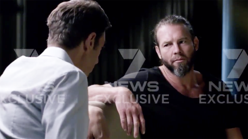 Ben Cousins, pictured here speaking to Basil Zempilas during the interview.