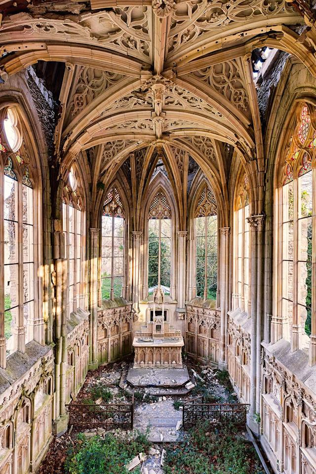 <p>Gothic chapel in France. (Photo: James Kerwin/Caters News) </p>