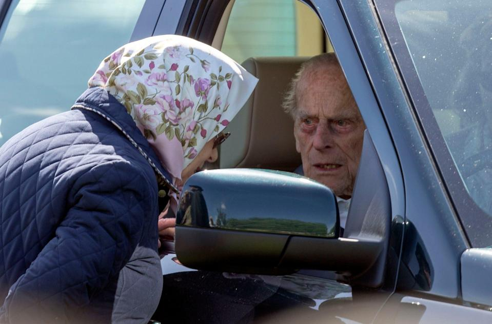 """The Duke of Edinburgh, then aged 97,  was left """"very shocked"""" and shaken when the Land Rover Discovery he was driving was involved in a collision with a Kia as he drove near the Queen's Sandringham estate (PA)"""