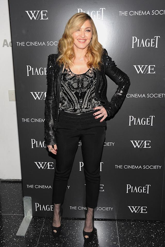 "<a href=""http://movies.yahoo.com/movie/contributor/1800038606"">Madonna</a> at the New York screening of <a href=""http://movies.yahoo.com/movie/1810159454/info"">War Horse</a> on December 4, 2011."