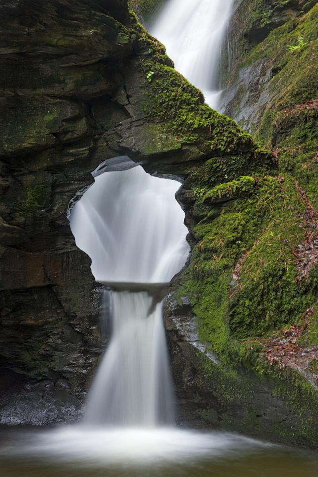 'Merlin's Well', St Nectan's Glen, Cornwall: Adam Burton's image of a waterfall, the hole above which he claims looks like Alfred Hitchcock, was commended in the Classic View category. (Adam Burton, Landscape Photographer of the Year)