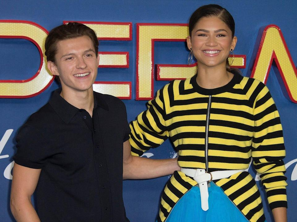 Tom Holland and Zendaya posing together in June 2017.