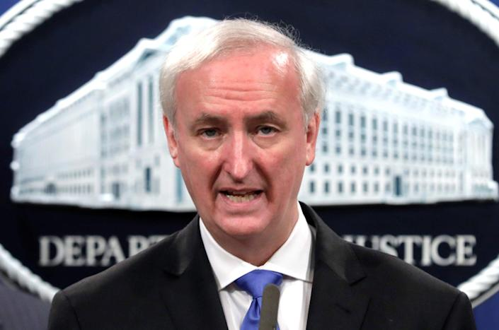 <p>Donald Trump named current deputy attorney general Jeffrey Rosen as his acting attorney general following William Barr's resignation on 14 December.</p> (REUTERS)