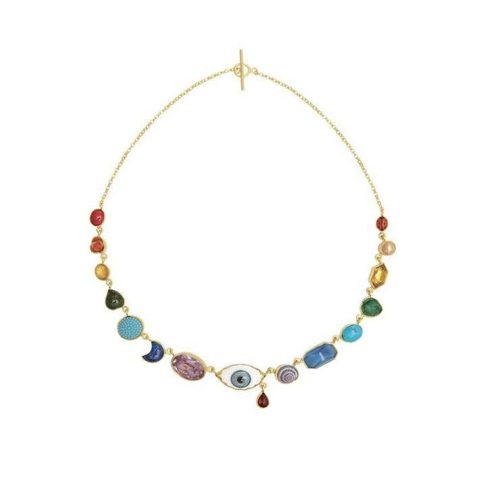 """<p><a href=""""https://www.grainnemorton.co.uk/product/eye-teardrop-charm-necklace-n-etc1"""" rel=""""nofollow noopener"""" target=""""_blank"""" data-ylk=""""slk:Shop Now"""" class=""""link rapid-noclick-resp"""">Shop Now</a></p><p>""""Surrealism is having a moment and although some pieces take it to the extreme this Grainne Morton necklace adds the perfect dash of the trend to any look. It is sweet and will look great layered with my other favorite necklaces or by itself.""""—<em>Cassandra Hogan, Fashion Assistant</em></p>"""