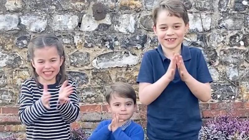 George, Charlotte and Louis join the Queen and Royal Family in NHS tribute