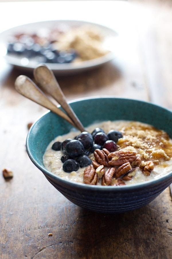 flax and blueberry oats