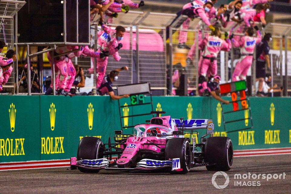 "Le vainqueur Sergio Perez, Racing Point RP20<span class=""copyright"">Andy Hone / Motorsport Images</span>"
