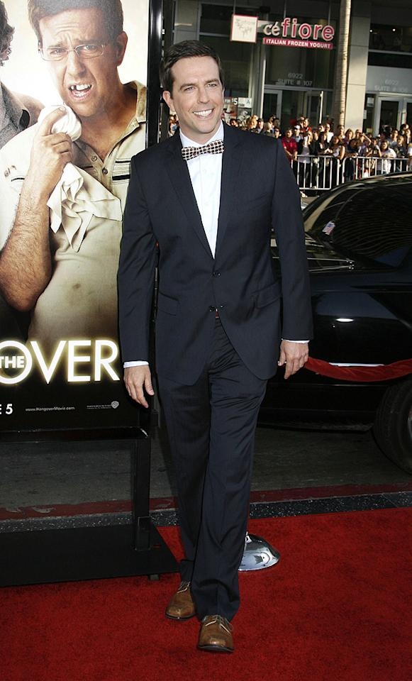 """<a href=""""http://movies.yahoo.com/movie/contributor/1809704692"""">Ed Helms</a> at the Los Angeles premiere of <a href=""""http://movies.yahoo.com/movie/1810044687/info"""">The Hangover</a> - 06/02/2009"""