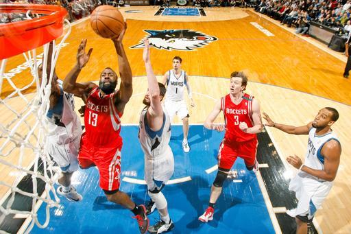 Harden rallies Rockets to 87-84 over Timberwolves