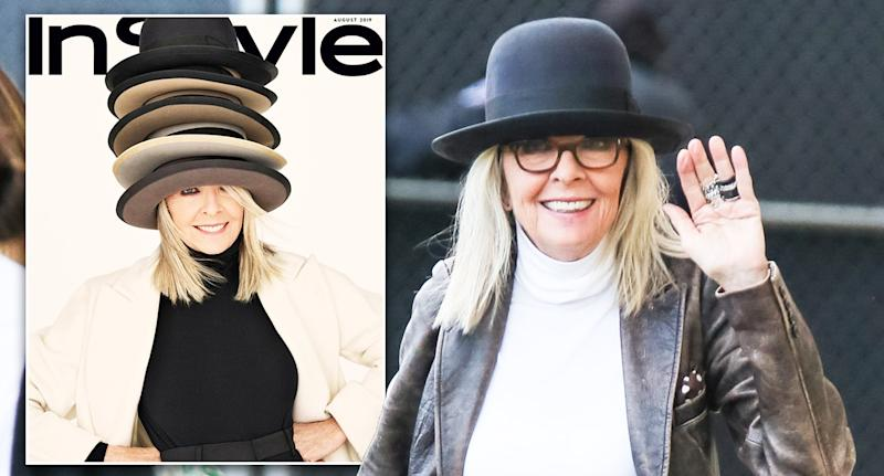 Diane Keaton stars on the front of the August 2019 issue of InStyle magazine. [Photo: Getty/InStyle]