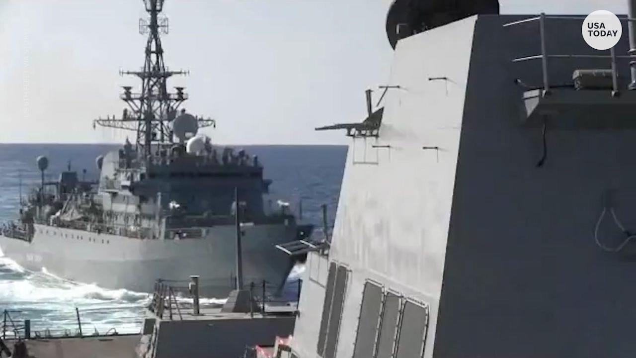 Russian ship 'aggressively approached' a US destroyer in North Arabian Sea, Navy says