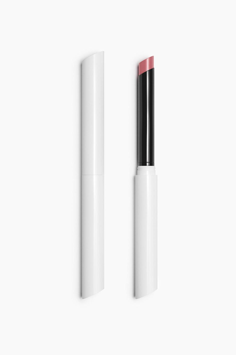 """<h3>Stiletto Demi-Matte Lipstick</h3><br>If you like a <a href=""""https://www.refinery29.com/en-us/2021/04/10424202/rihanna-heeled-flip-flops-spring-21-shoe-trend"""" rel=""""nofollow noopener"""" target=""""_blank"""" data-ylk=""""slk:high-heel sandal"""" class=""""link rapid-noclick-resp"""">high-heel sandal</a>, you might gravitate towards the aesthetic of the Stiletto lipstick. The skinnier compact allows for more precision in application, and the nine color options are all super pigmented.<br><br><strong>Zara</strong> Stiletto Demi-Matte Lipstick - Refillable, $, available at <a href=""""https://go.skimresources.com/?id=30283X879131&url=https%3A%2F%2Fwww.zara.com%2Fus%2Fen%2Fstiletto-demi-matte-lipstick---refillable-p24120300.html"""" rel=""""nofollow noopener"""" target=""""_blank"""" data-ylk=""""slk:Zara"""" class=""""link rapid-noclick-resp"""">Zara</a>"""