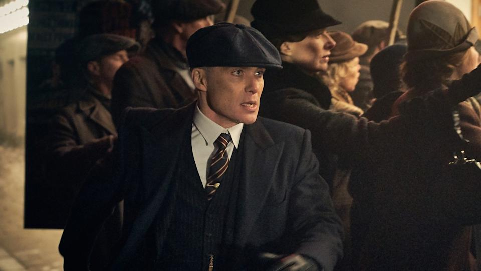 Cillian Murphy plays crime family boss Tommy Shelby in BBC series 'Peaky Blinders'. (Credit: BBC)