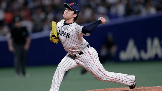 Japan scored five runs in the seventh and eighth innings to win Wednesday, 6-5, and take a 4-1 lead in the six-game series.