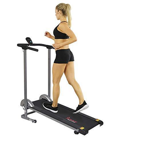 Sunny Health & Fitness SF-T1407M Manual Treadmill with LCD Display