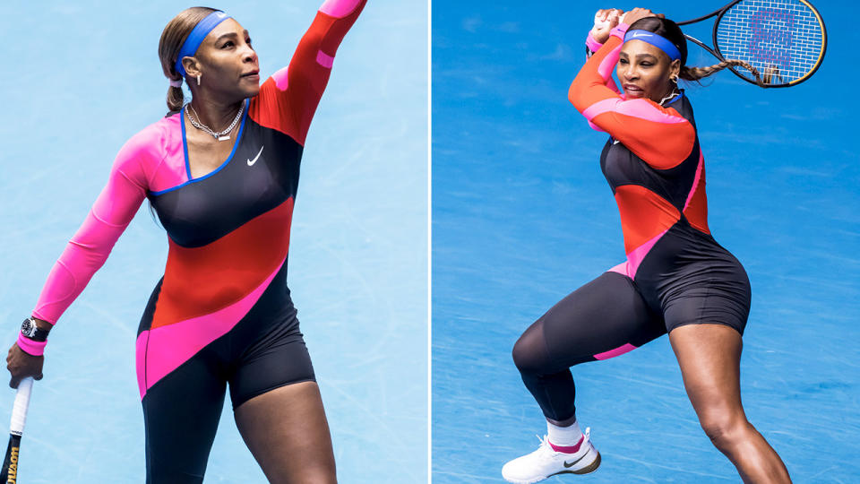 Serena Williams, pictured here in action at the Australian Open.