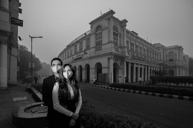 Photographer Ashish Pareek of Banjara Studiosstaged this shoot in New Delhi to illustrate what air pollution is doing to the city. (Photo: Banjara Studios)