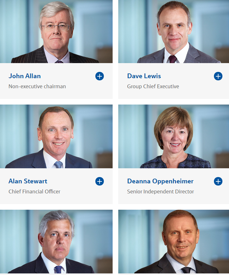 Tesco's executive board of directors (Tesco.com)