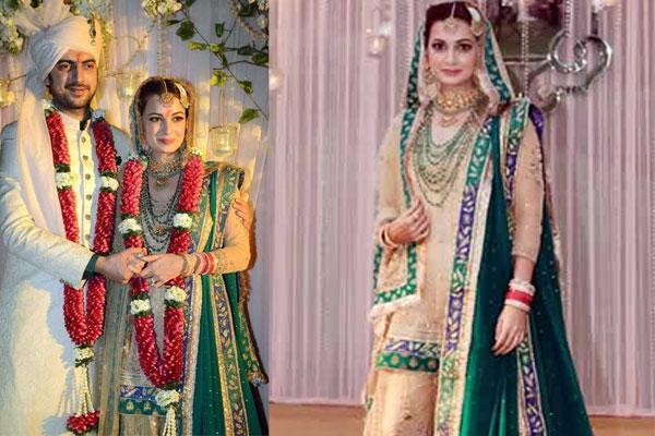 Dia Mirza Expensive Wedding Outfit