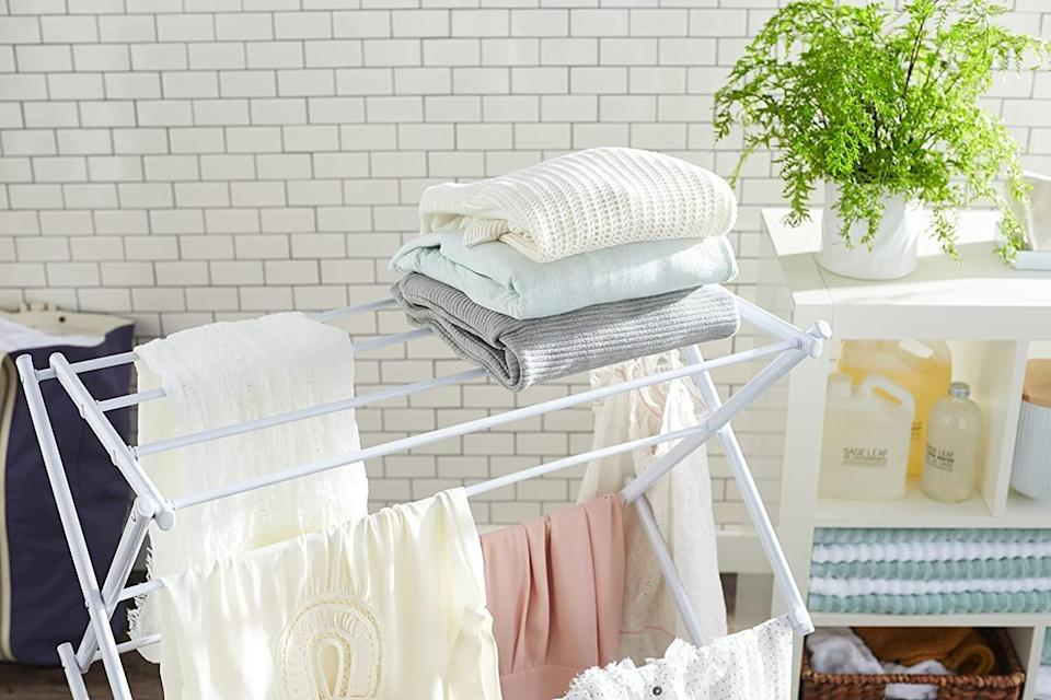 A Foldable Clothes Drying Rack Wedding Registry Items