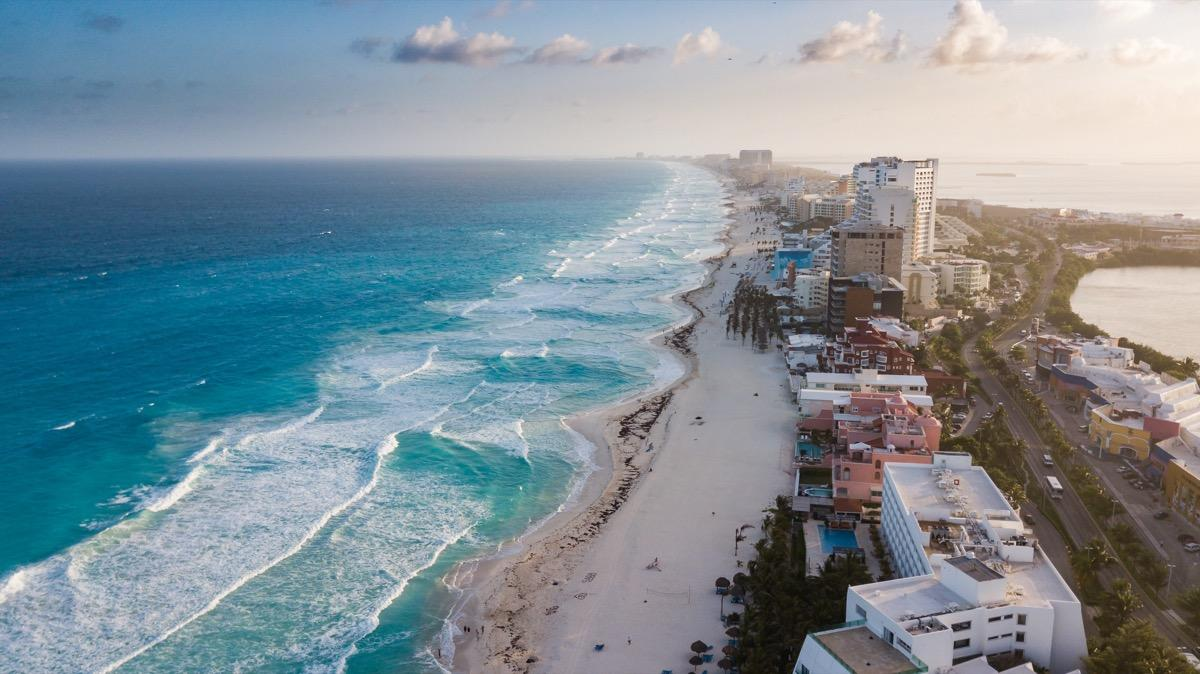 "All of Cancun is one endless tourist trap. From sales representatives pressuring you to attend presentations about purchasing timeshares in Mexico, to young spring breakers looking to down one too many margaritas (the drinking age is 18 in Mexico), you'll spend more time avoiding these unpleasant diversions than actually enjoying this beautiful beach town. For <a href=""https://bestlifeonline.com/magical-islands/?utm_source=yahoo-news&utm_medium=feed&utm_campaign=yahoo-feed"" target=""_blank"">crystal-clear waters and hidden cenotes</a>, check out Bacalar, Yucatan, as a quieter alternative."