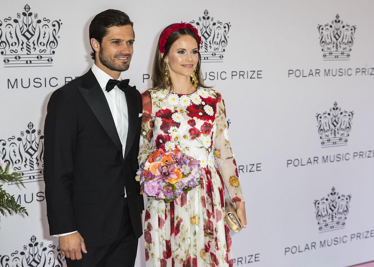 <p>Prince Carl Philip and his wife Princess Sofia were glowing at the Polar Music Awards earlier this summer. </p>