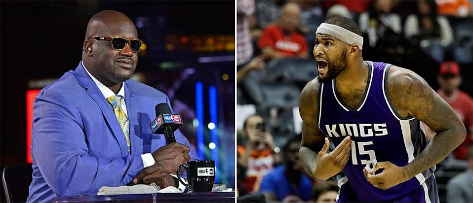 Shaquille O'Neal has heard some things that might surprise DeMarcus Cousins. (Left: Getty Images; Right: AP)