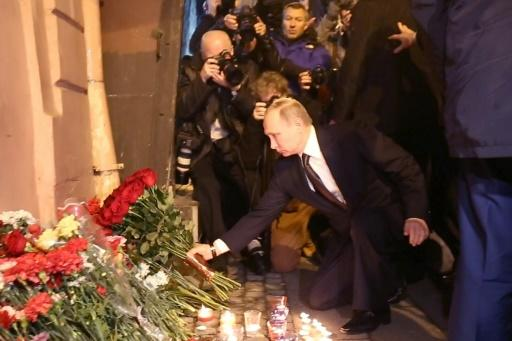 Shocked, saddened by attack on St. Petersburg metro: President
