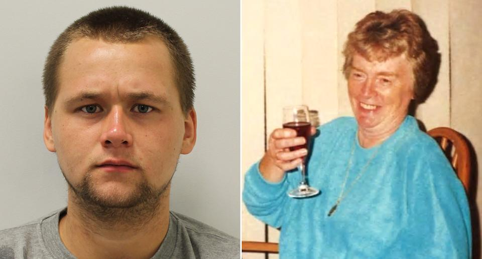 Reece Dempster, left, has been sentenced over Dorothy Woolmer's death, right. (PA Images/Met Police)