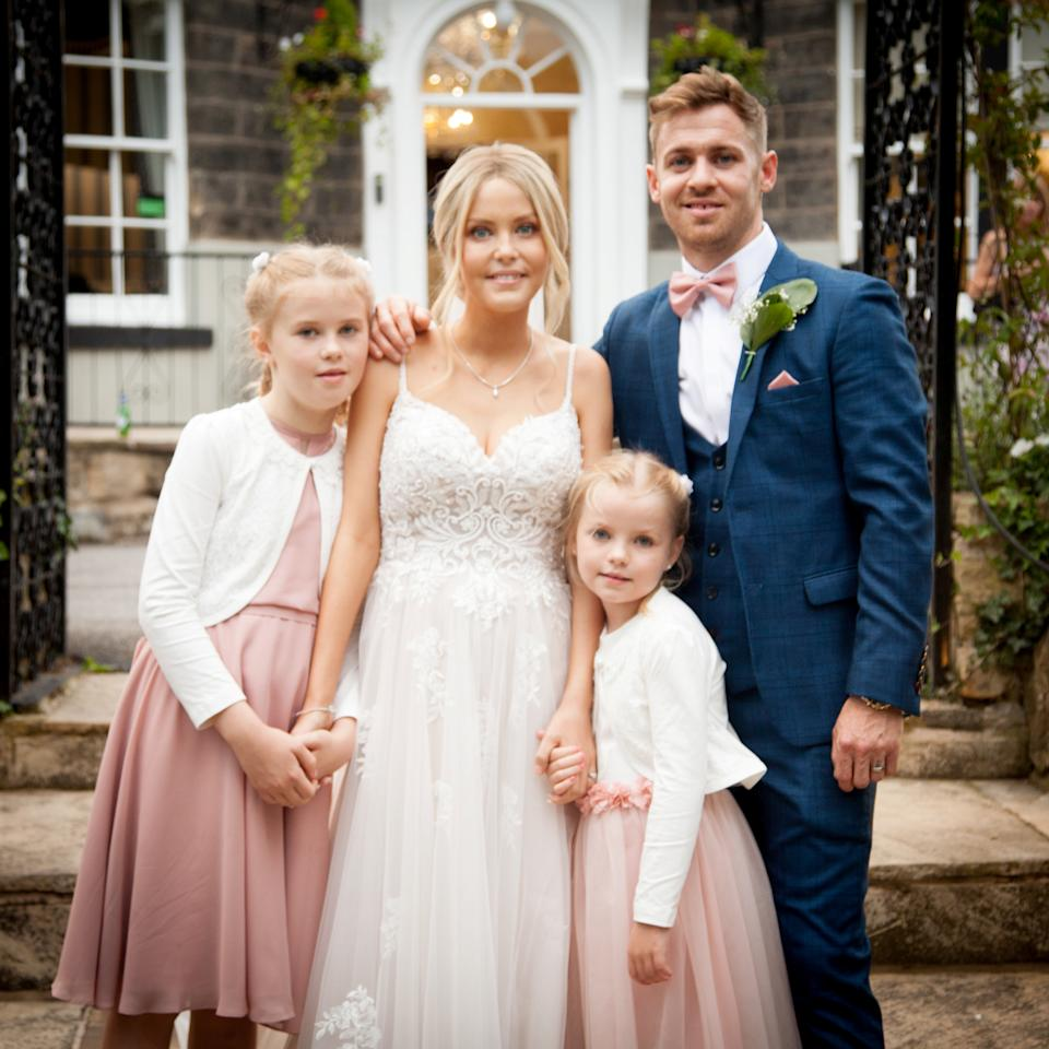 Mum-of-two Sinead Richards has died just weeks after her wedding day. (SWNS)