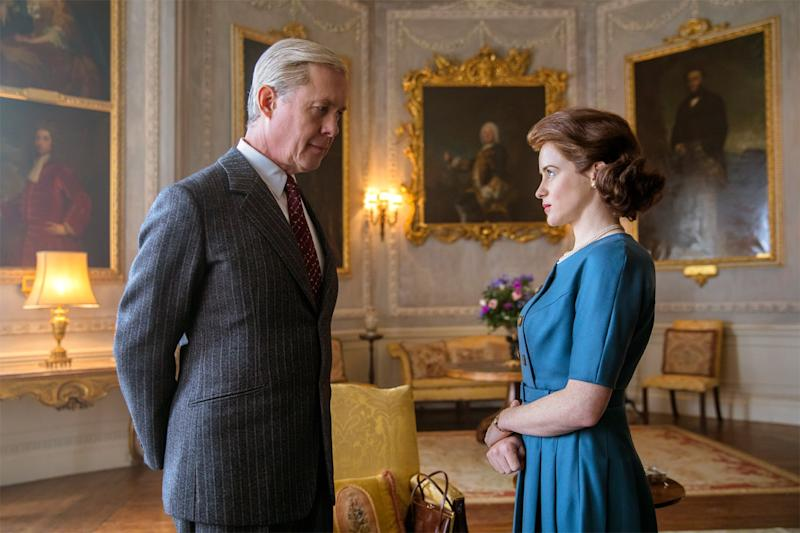 Exiled: Alex Jennings as the Duke of Windsor, with Claire Foy (Robert Viglasky / Netflix)