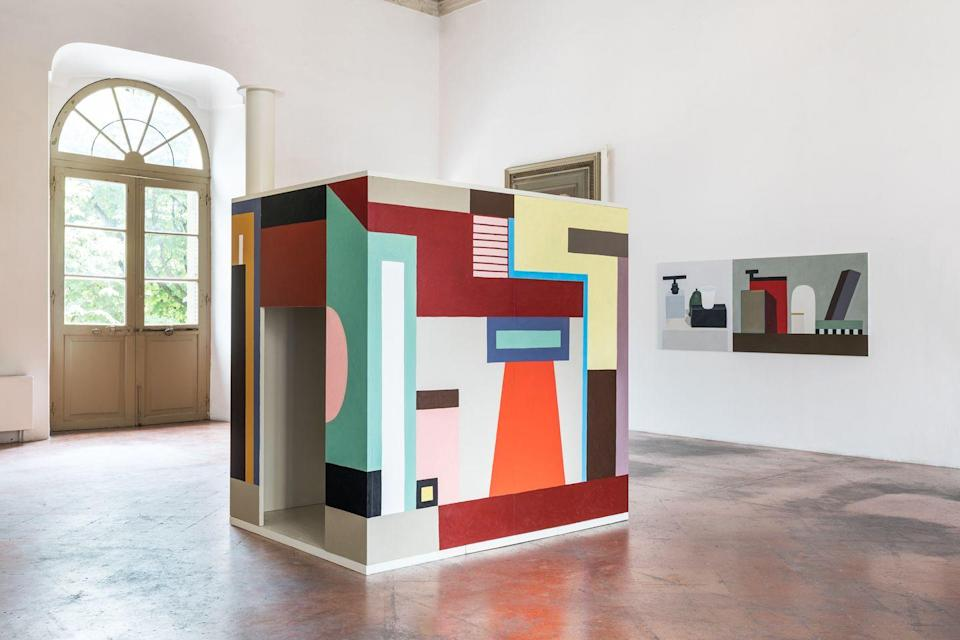 """<p>Milan-based artist Natalie du Pasquier's abstract yet architectural paintings are considered a masterclass in form – and for good reason. This month, three concurrent online exhibitions are tracing separate threads of the Memphis Group maverick's work: see her coloured pencil drawings produced during lockdown at New York's Anton Kern Gallery, a three-dimensional installation at A Palazzo Gallery in Brescia, Italy and an extensive selection of paintings (plus snaps of her studio and works in situ) at London's Pace Gallery. Until 30 June. <a href=""""https://www.pacegallery.com/"""" rel=""""nofollow noopener"""" target=""""_blank"""" data-ylk=""""slk:pacegallery.com"""" class=""""link rapid-noclick-resp"""">pacegallery.com</a>   <a href=""""http://www.apalazzo.net/en/"""" rel=""""nofollow noopener"""" target=""""_blank"""" data-ylk=""""slk:apalazzo.net"""" class=""""link rapid-noclick-resp"""">apalazzo.net</a>   <a href=""""https://www.antonkerngallery.com/"""" rel=""""nofollow noopener"""" target=""""_blank"""" data-ylk=""""slk:antonkerngallery.com"""" class=""""link rapid-noclick-resp"""">antonkerngallery.com</a> </p>"""