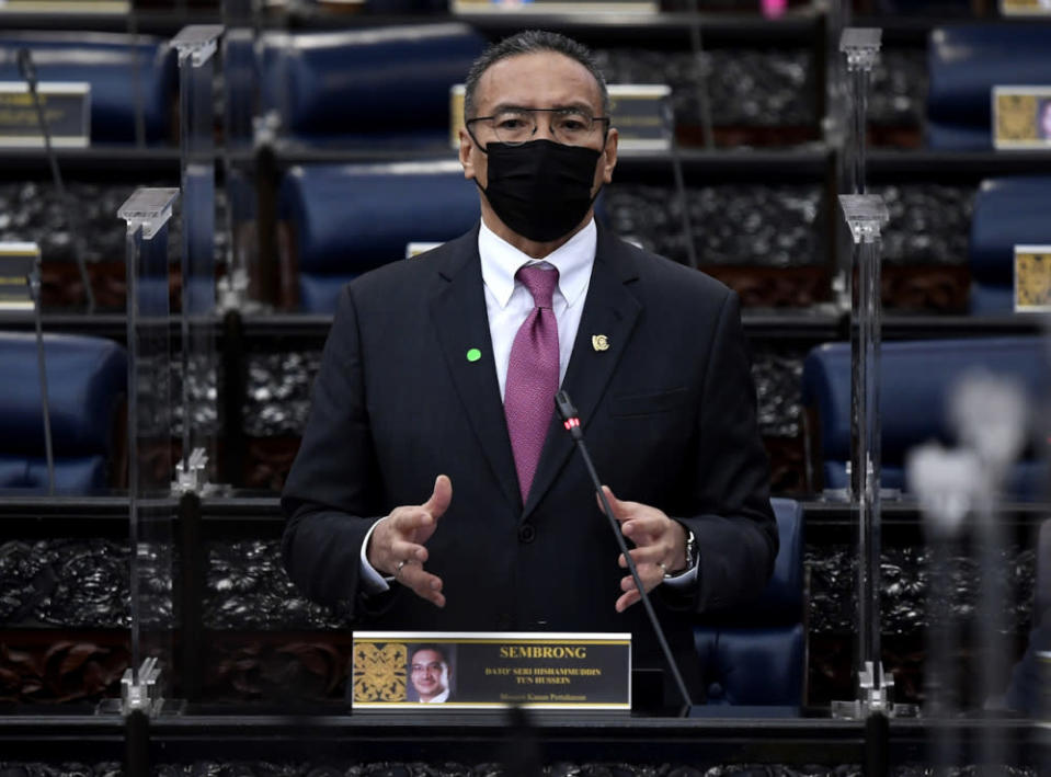 Defence Minister Datuk Seri Hishammuddin Hussein said the federal government's position has been very clear and consistent regarding the three-way security pact Australia has with the United States and the United Kingdom in the Indoe-Pacific region, better known as Aukus. — Bernama pic