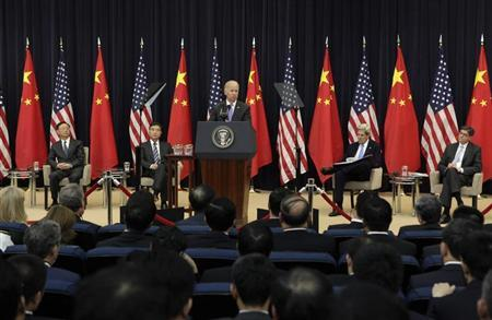 U.S. Vice President Biden speaks during the U.S.-China Strategic and Economic Dialogue Opening Session in Washington