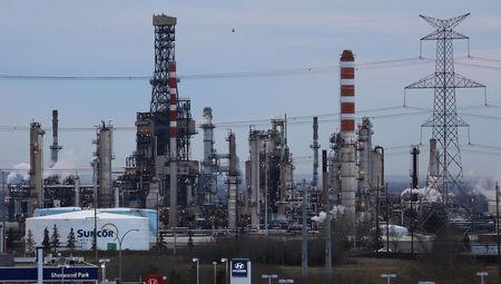 FILE PHOTO: A Suncor refinery is seen in Sherwood Park